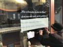 Spruch am Schaufenster