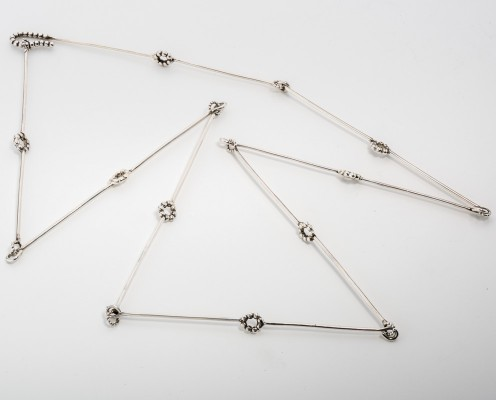 Kugel-Collier aus 925er Silber, beweglich - Preis: 295,-€
