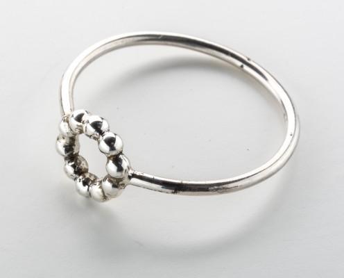 Perlenring oder Kugelring aus 925er Silber - Preis: 42,-€