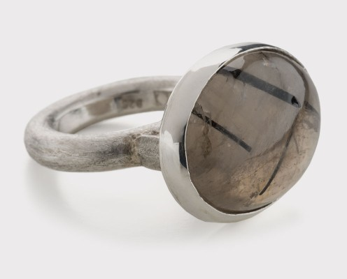 Rutiler Quarz in 925er Silber gefasst